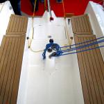 Großschot auf Block, Traveller ist für die Cruise optional erhältlich