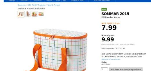 IKEA Sommar Kühltasche